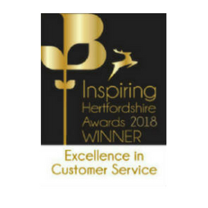 Lumina Technologies was winner for the 2018 Inspiring Hertfordshire Awards - Excellence in Customer Service